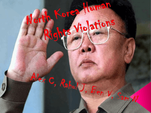Human Rights violations in North Korea