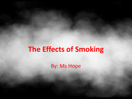 How Smoking Effects the Body