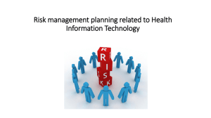 Risk management planning related to Health Information Technology