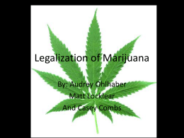 Legalization of Marijuana - 2ndPdAltmanLA8Persuasion2010