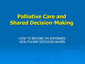 Palliative Care and Shared Decision