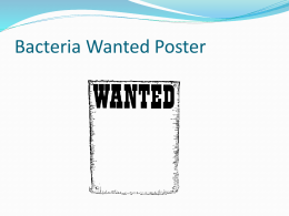Bacteria Wanted Poster Power Point