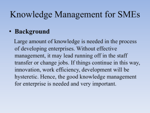 Knowledge Management for SMEs