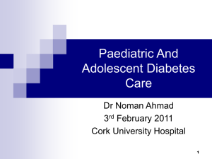 Paediatric And Adolescent Diabetes Care
