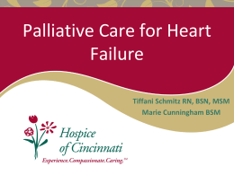 Palliative Care for End Stage Heart Disease