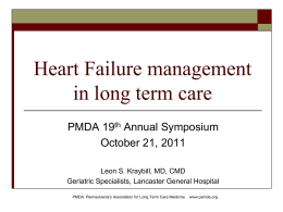 Heart failure managment in LTC