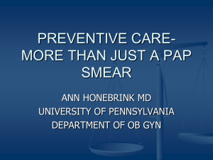 preventive care-more than just a pap smear