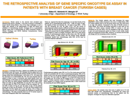 the retrospective analysis of gene specific oncotype dx assay in