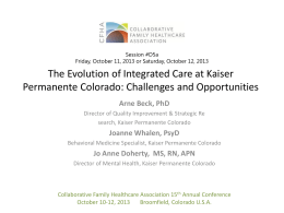 Title of Presentation - Collaborative Family Healthcare Association