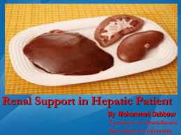 Renal Support in Hepatic Patient