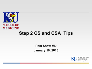 CS13 - University of Kansas Medical Center