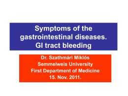Symptoms of the gastrointestinal diseases. GI tract bleeding