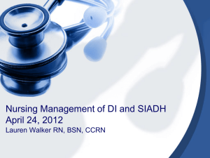 Nursing Management of DI and SIADH