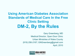 Type 2 Diabetes, By the Rules - Occ-Env-Med-L