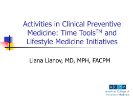 Activities in Clinical Preventive Medicine