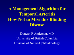 Ischemic optic neuropathy: who should get a temporal artery biopsy?