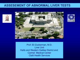 Evaluation of Abnormal Liver Function Tests