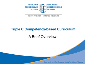 Triple C Competency-based Curriculum