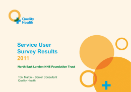 Annual Service User Survey