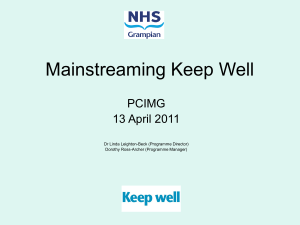 Summarising Keep Well and Preparing for Extension - HI-Net