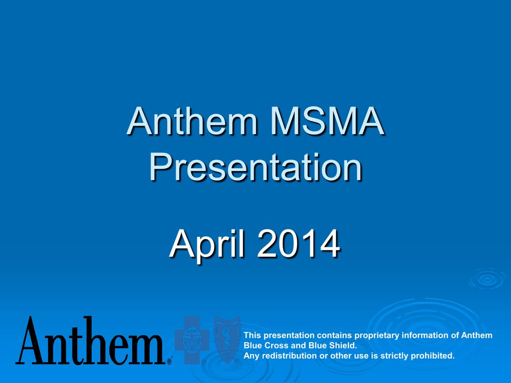 Anthem - Missouri State Medical Association