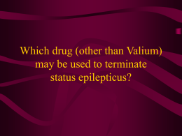 Which drug (other than Valium) may be used to terminate status