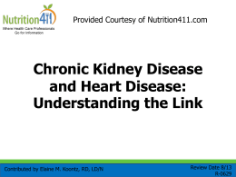 R-0629 Chronic Kidney Disease and Heart Disease