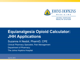 Equianalgesia Opioid Calculator