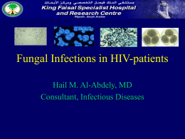 Fungal Infections in HIV