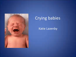 23 Mar 2010- Crying Babies - Katie Lazenby