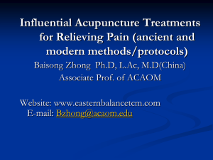 Influential Acupuncture Treatments for Relieving Pain