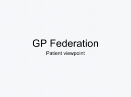 GP Federation - Regal Chambers Surgery
