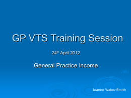 24th April 2012 - General Practice Income