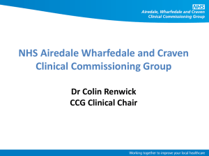 here - NHS Airedale, Wharfedale and Craven Clinical