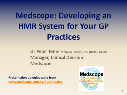 Developing an HMR System for Your GP Practices