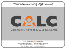 (CICB)? - Your Legal Rights