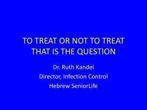 When To Test When to Treat