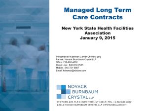 Managed Long Term Care Contracts