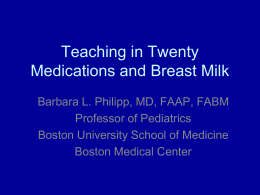 Medications and Breastfeeding