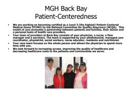 MGH Back Bay Teams