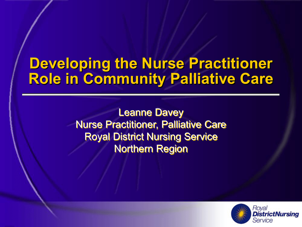 Developing the Nurse Practitioner Role in Community
