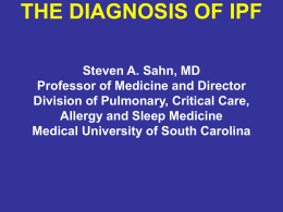 Making the Diagnosis of IPF - Coalition for Pulmonary Fibrosis