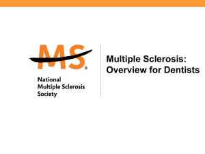 Dentists - National Multiple Sclerosis Society