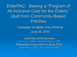 ElderPAC: Sewing a - National Partnership for Women & Families