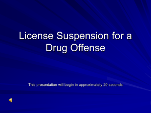 License Suspension for a Drug Offense
