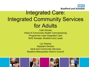 Integrated Community Services for Adults
