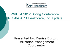 APS - West Virginia Physical Therapy Association