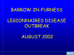 Legionella Outbreak in the North West