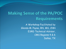 Making Sense of the PA/POC Requirements