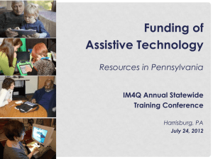 Funding of Assistive Technology Resources in Pennsylvania